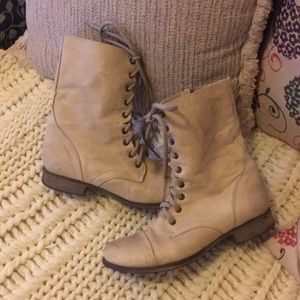 Lightly worn Distressed Steve Madden combat boots